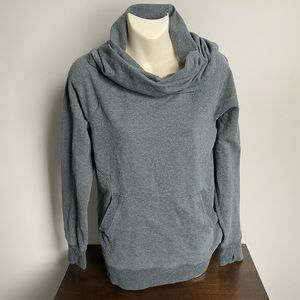 L.L Bean Heather grey wide neck sweatshirt